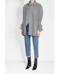 Vetements X Comme Des Garons Striped Cotton Shirt