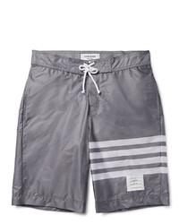 Grey Horizontal Striped Shorts