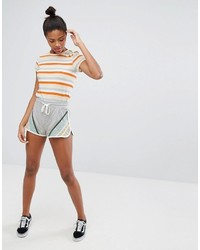 Metallic stripe sporty shorts medium 3764531