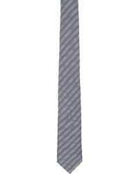 Giorgio Armani Blue Jacquard Stripe Tie