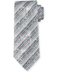 Robert Graham Ines Jacquard Silk Tie Gray