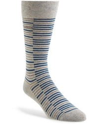 Grey Horizontal Striped Socks