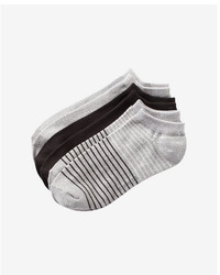 Express 3 Pack Soft Solid And Stripe Ankle Socks