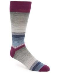 John W. Nordstrom Gradual Stripe Cotton Cashmere Blend Socks