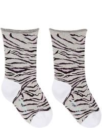 Kenzo Grey Tiger Stripe Socks