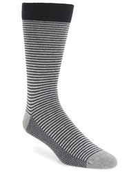 Ted Baker London Stripe Organic Cotton Blend Socks