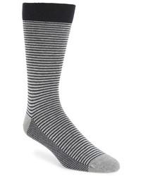 Ted Baker London Stripe Organic Cotton Blend Socks