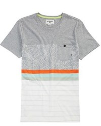 Grey Horizontal Striped T-shirt