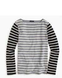 J.Crew Waffle T Shirt In Stripe Combo