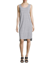 Eileen Fisher Skinny Striped Organic Linen Tank Dress Whiteblack