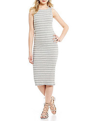 Copper Key Striped Midi Tank Dress