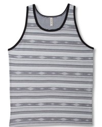 Grey Horizontal Striped Tank