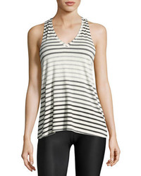 Bring it ommmbre striped racer tank top gray pattern medium 3995423