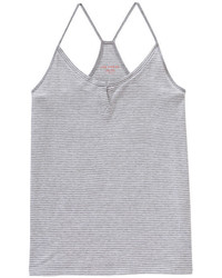 Joe Fresh Stripe Racerback Tank Light Grey Mix