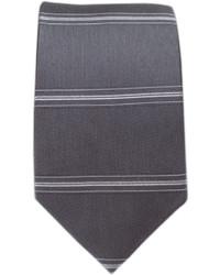 The Tie Bar Ripon Horizontal Stripe Gray