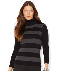 Striped turtleneck sweater medium 160660