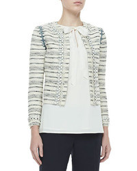 Tory Burch Nicole Jewel Trim Jacket