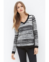 Forever 21 Contemporary Striped V Neck Sweater