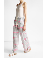 Lemlem Striped Wide Leg Cotton Pants