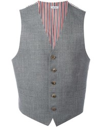 Thom Browne Striped Lateral Waistcoat