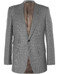Kingsman grey slim fit houndstooth wool suit jacket medium 1343088