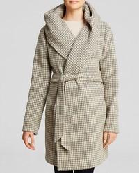 Lexi houndstooth hooded wrap coat medium 117070