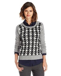 Houndstooth sweater medium 224724
