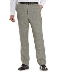 Oak Hill Houndstooth Linen Blend Flat Front Dress Pants Casual Male Xl