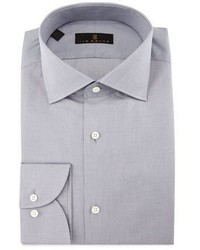 Ike Behar Gold Label Milano Mini Houndstooth Dress Shirt Gray