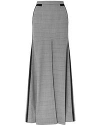 Hellessy Merritt Med Houndstooth Tweed Maxi Skirt