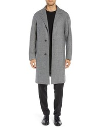 Grey Houndstooth Overcoat