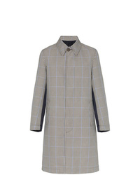 Alexander McQueen Houndstooth Print Two Tone Trench Coat