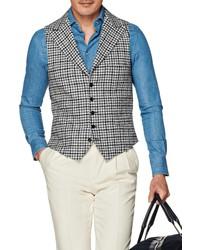 Grey Houndstooth Waistcoat