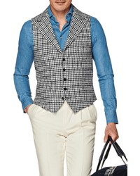 Suitsupply Check Wool Blend Vest