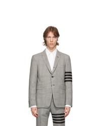 Thom Browne Black And White Wool 4 Bar Blazer