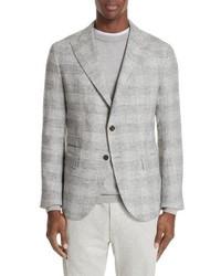 Eleventy Trim Fit Houndstooth Alpaca Wool Blend Sport Coat