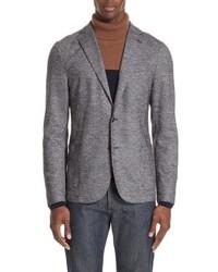 Eleventy Trim Fit Houndstooth Wool Cotton Sport Coat