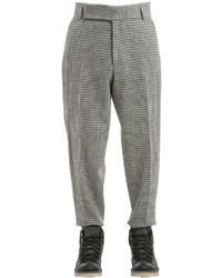 Z Zegna 19cm Wool Blend Houndstooth Pants