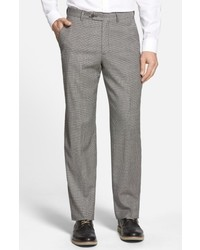 Berle Flat Front Houndstooth Wool Trousers
