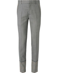 Alexander McQueen Slim Fit Houndstooth Wool Mohair And Silk Blend Suit Trousers