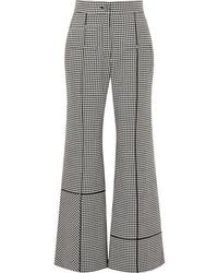 Loewe Med Houndstooth Wool Wide Leg Pants