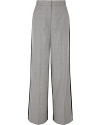 Stella McCartney Reine Houndstooth Wool Tweed And Silk Twill Pants