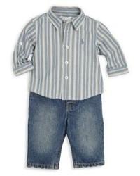 Ralph Lauren Babys Shirt Jeans Set