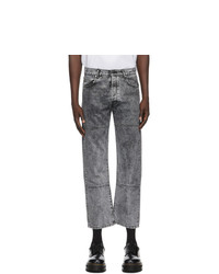 Études Black Acid Wash Corner Jeans