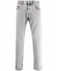Eleventy Bleach Washed Slim Cut Jeans
