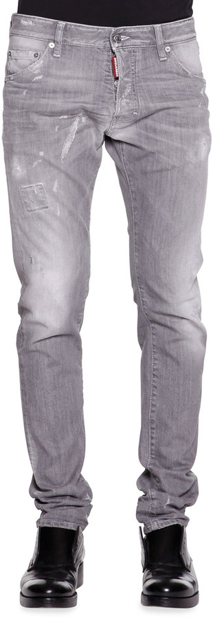 Dsquared2 Cool Guy Slim Fit Gray Distressed Jeans Where To Buy