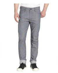 Andrew Marc New York Denim Leathers By Andrew Marc Grey And Blue Raw Wash Denim Jeans