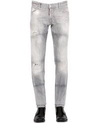 DSQUARED2 18cm Slim Grey Wash Stretch Denim Jeans