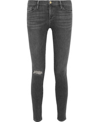 Frame Le Skinny De Jeanne Mid Rise Jeans Gray