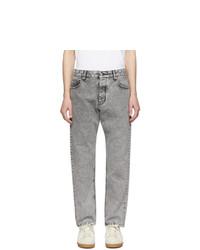 AMI Alexandre Mattiussi Grey Carrot Fit Jeans